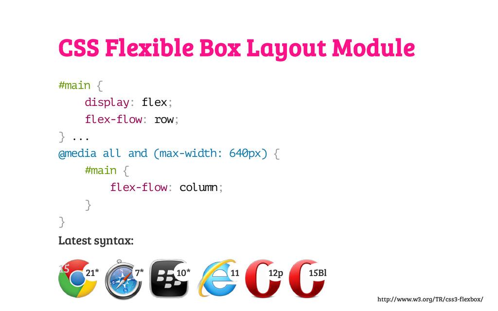 CSS Flexible Box Layout Module # m a i n { d i ...