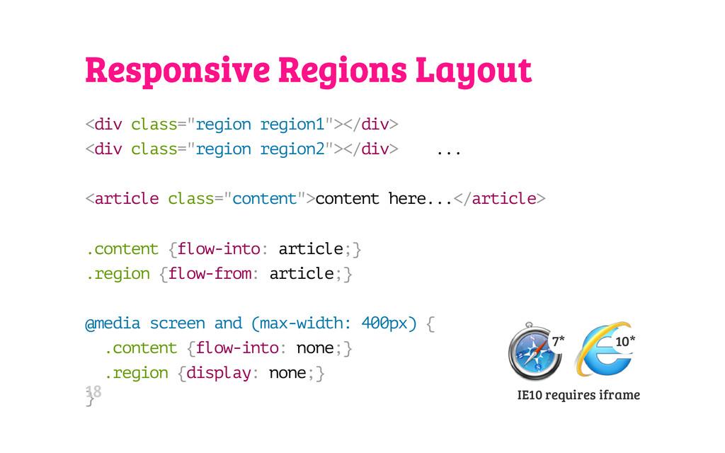 """Responsive Regions Layout < d i v c l a s s = """"..."""