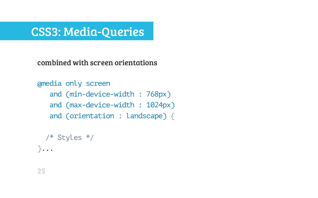 CSS3: Media-Queries combined with screen orient...