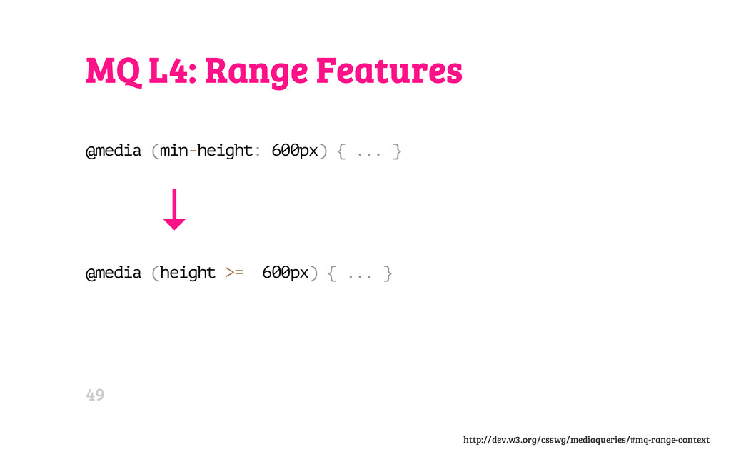 MQ L4: Range Features @ m e d i a ( m i n - h e...