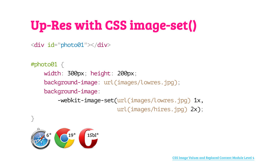 "Up-Res with CSS image-set() < d i v i d = "" p h..."