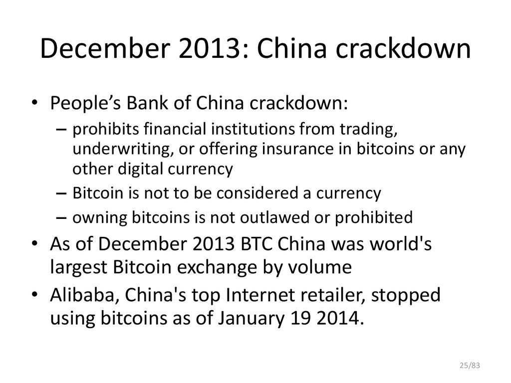 December 2013: China crackdown • People's Bank ...
