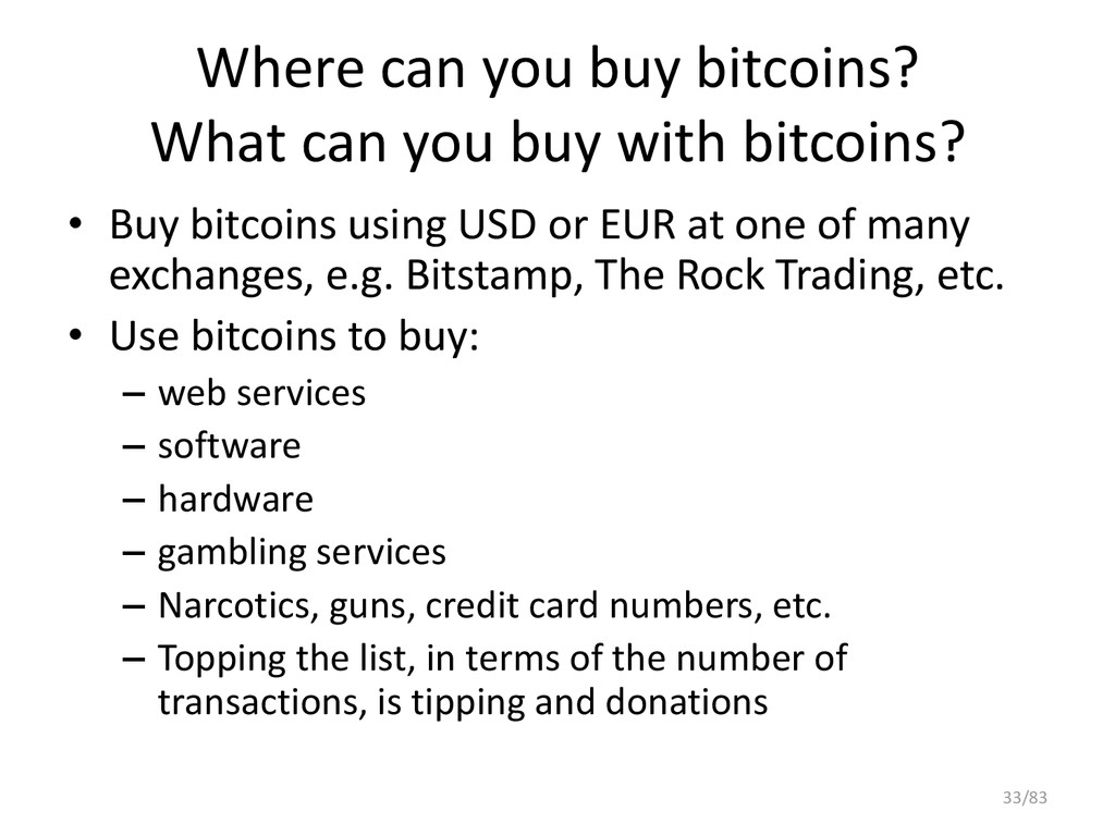 Where can you buy bitcoins? What can you buy wi...