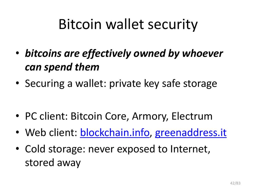 Bitcoin wallet security • bitcoins are effectiv...
