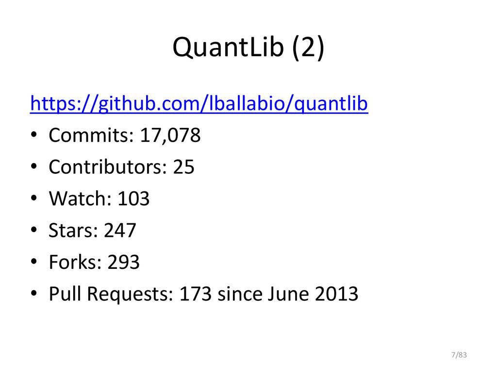 QuantLib (2) https://github.com/lballabio/quant...