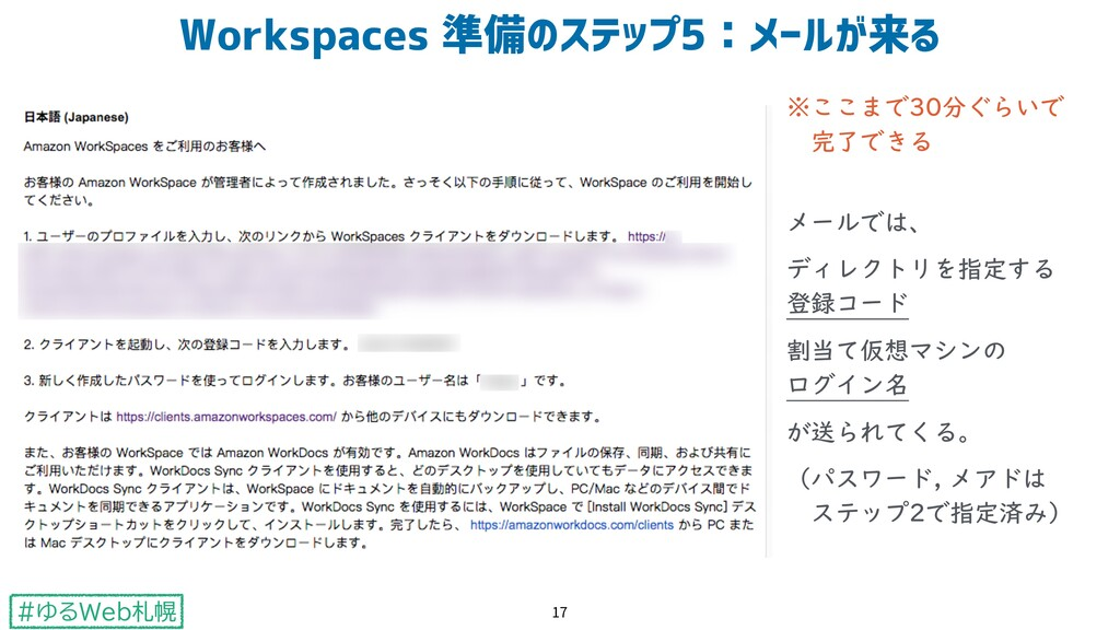 #ゆるWeb札幌 ※ここまで30分ぐらいで  完了できる  メールでは、 ディレクトリを指...