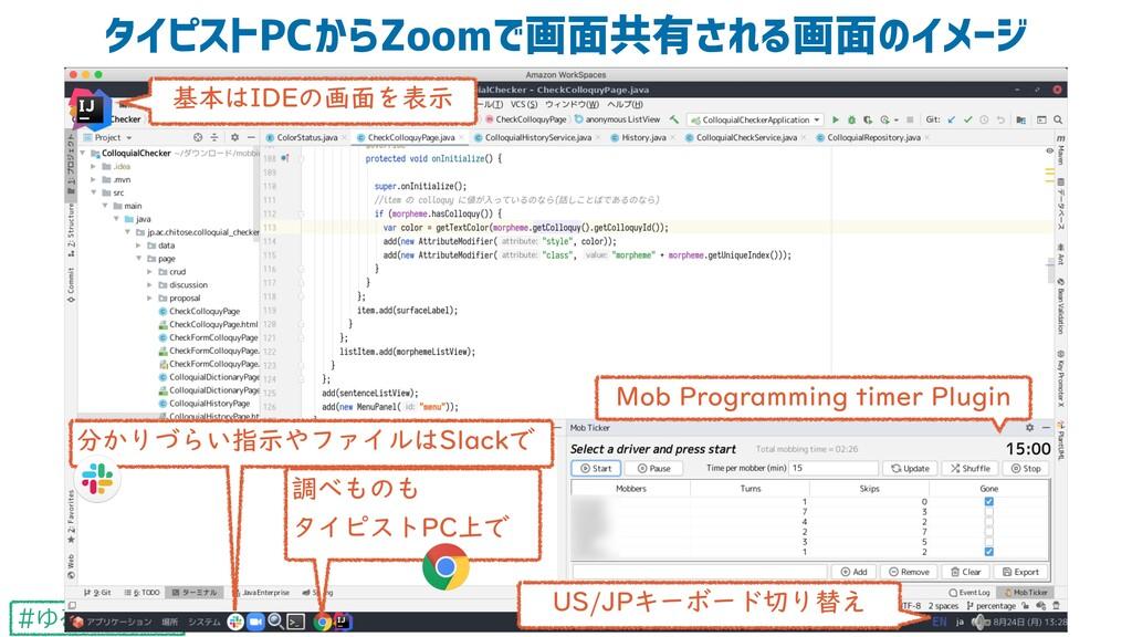 #ゆるWeb札幌 タイピストPCからZoomで画面共有される画面のイメージ 22 Mob Pr...