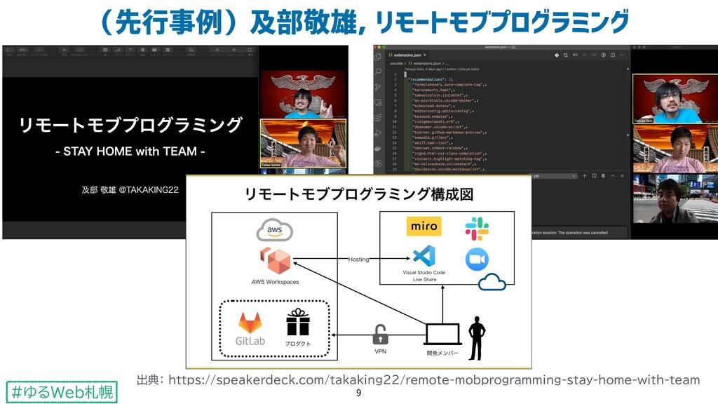 #ゆるWeb札幌 (先行事例)及部敬雄, リモートモブプログラミング 9 出典: https:...
