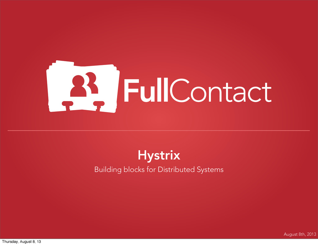 Hystrix Building blocks for Distributed Systems...