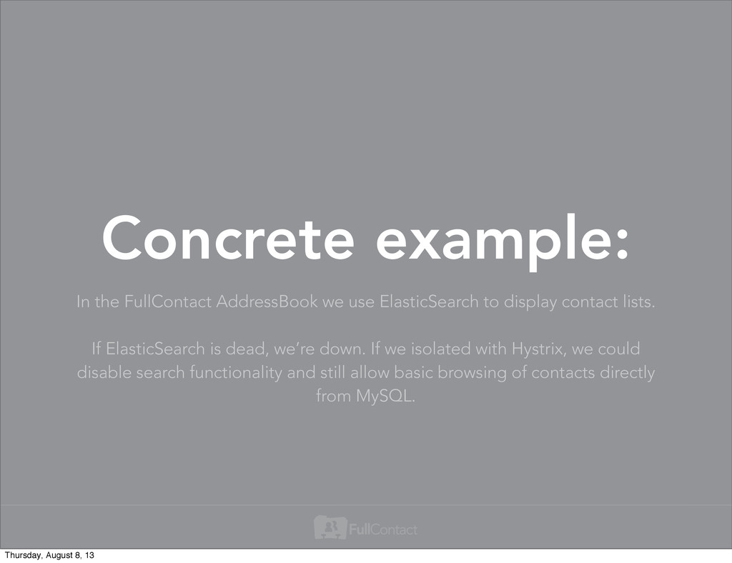 In the FullContact AddressBook we use ElasticSe...