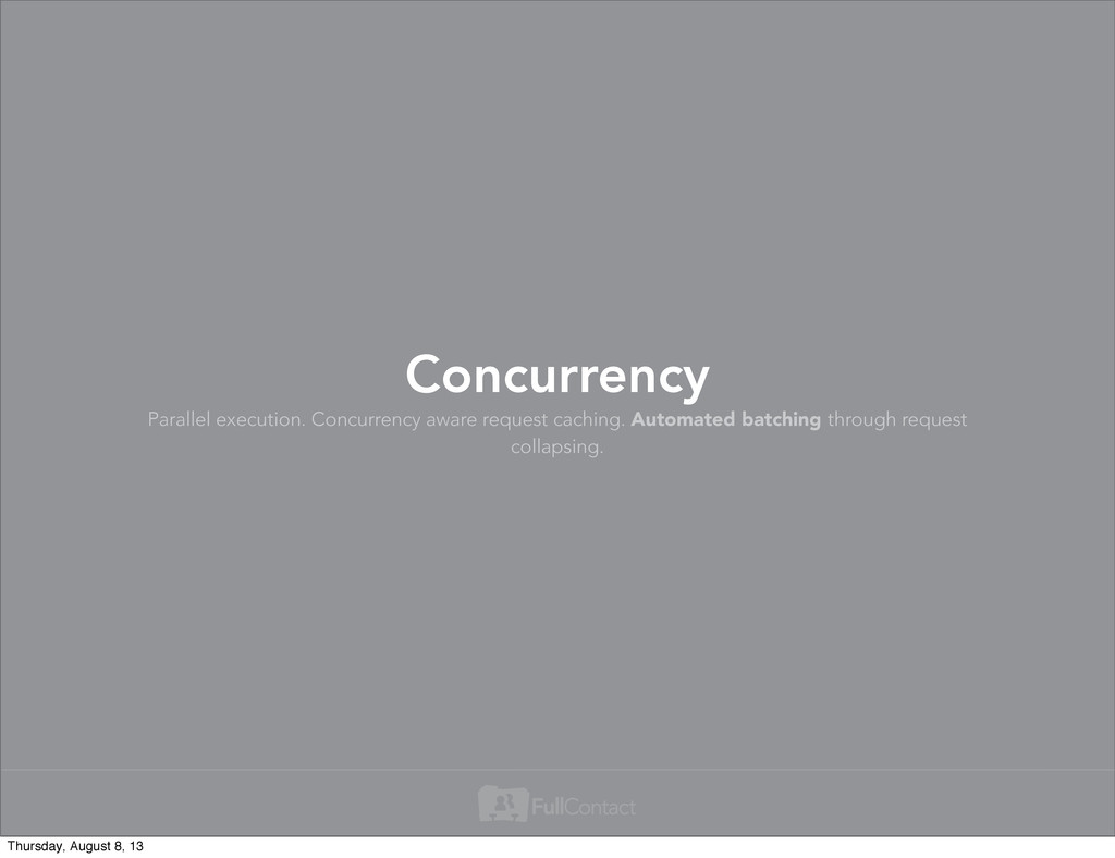 Parallel execution. Concurrency aware request c...