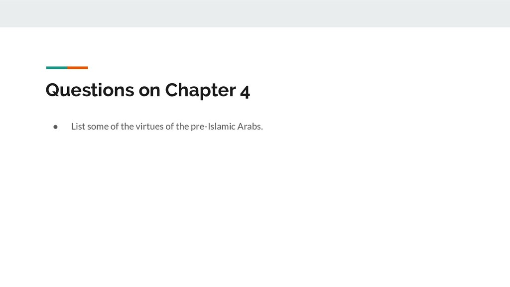 Questions on Chapter 4 ● List some of the virtu...