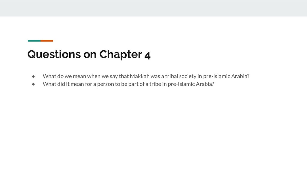Questions on Chapter 4 ● What do we mean when w...