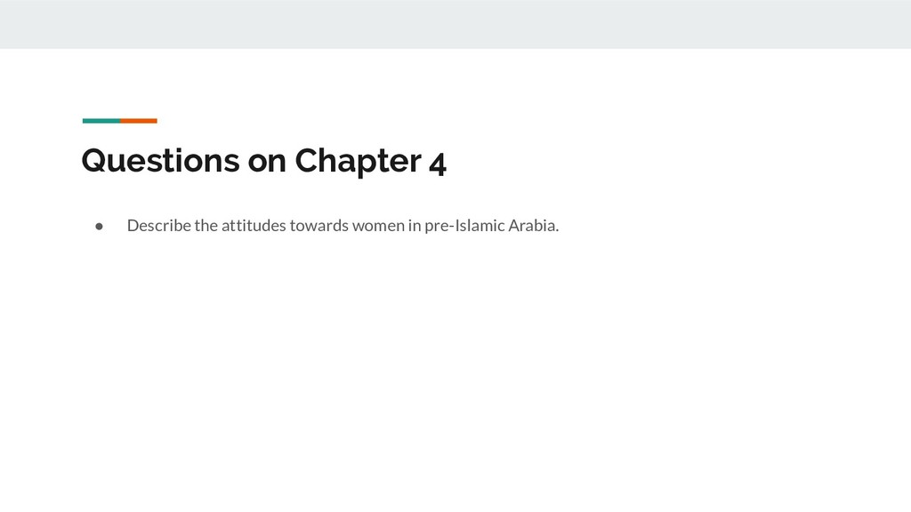 Questions on Chapter 4 ● Describe the attitudes...