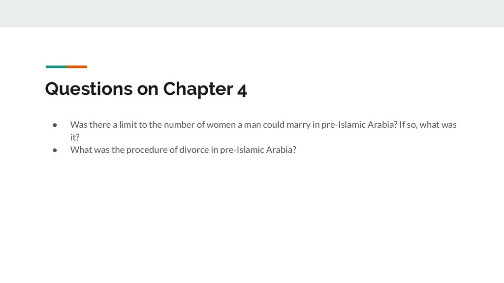 Questions on Chapter 4 ● Was there a limit to t...