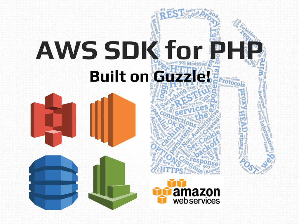 AWS SDK for PHP ! ! Built on Guzzle!!