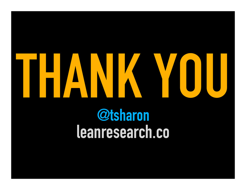 THANK YOU @tsharon leanresearch.co