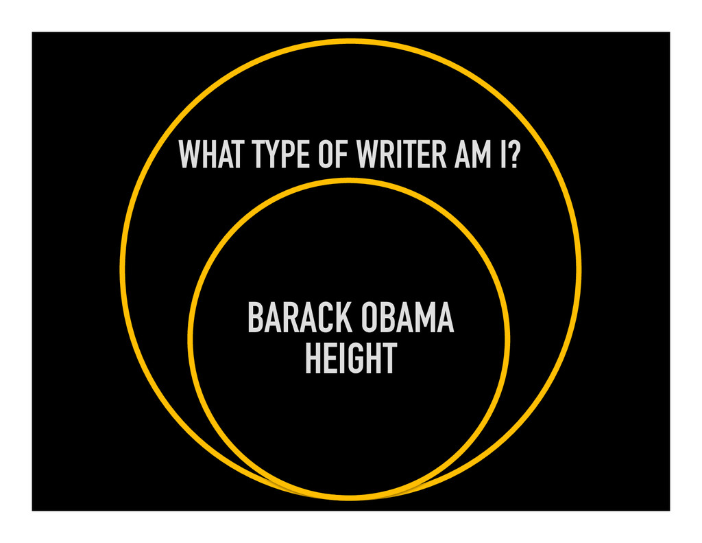 WHAT TYPE OF WRITER AM I? BARACK OBAMA HEIGHT