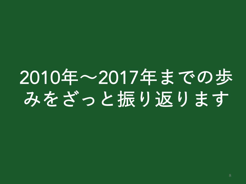 8 2010ʙ2017·Ͱͷา ΈΛͬ͟ͱৼΓฦΓ·͢