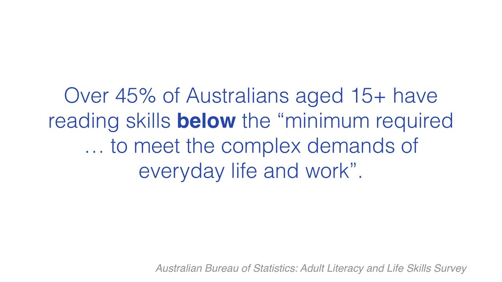 Over 45% of Australians aged 15+ have reading s...