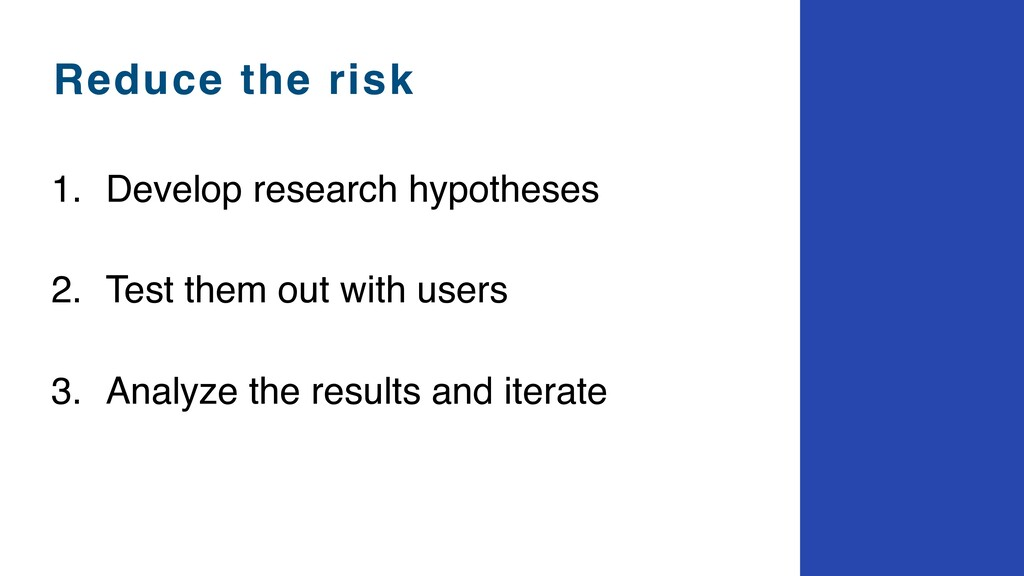 1. Develop research hypotheses
