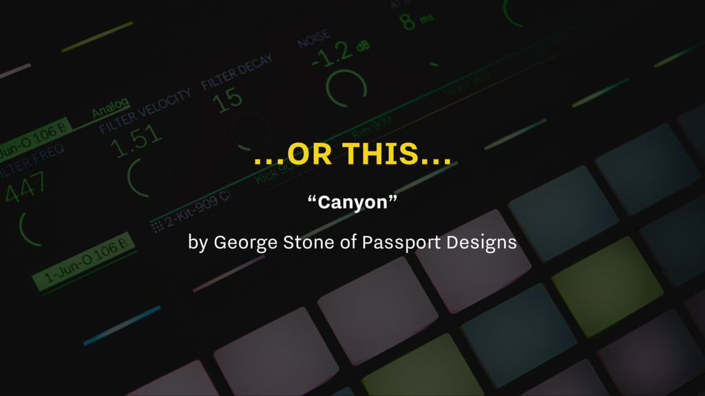 """...OR THIS... """"Canyon"""" by George Stone of Passp..."""