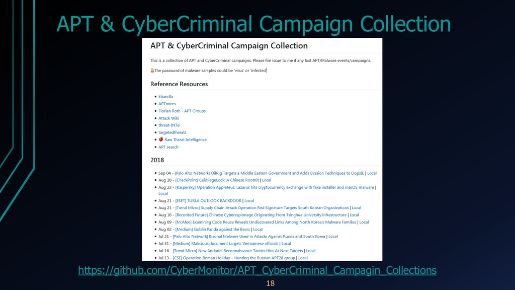 APT & CyberCriminal Campaign Collection https:/...