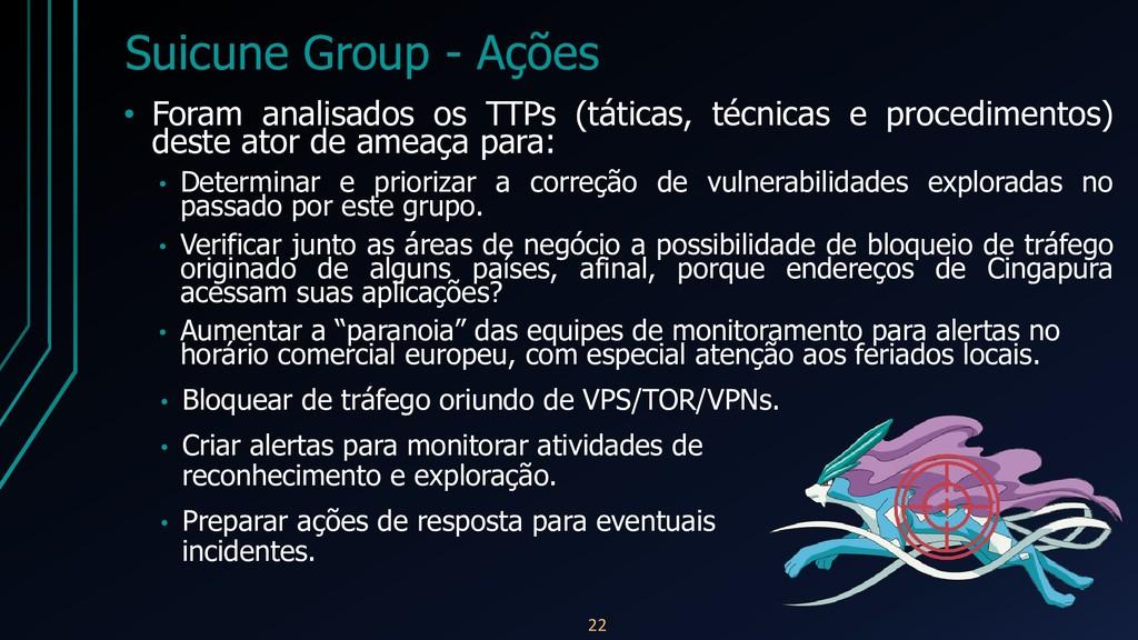 Suicune Group - Ações • Foram analisados os TTP...