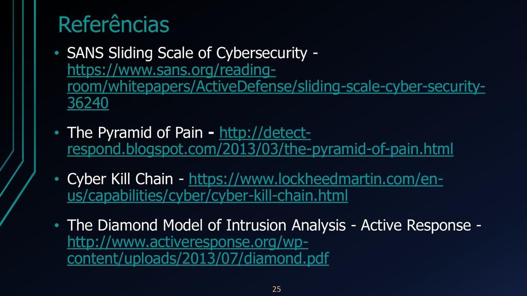 Referências • SANS Sliding Scale of Cybersecuri...