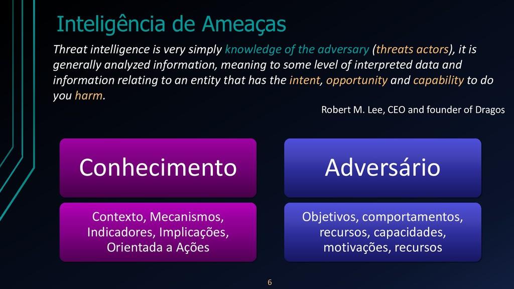 Inteligência de Ameaças 6 Threat intelligence i...