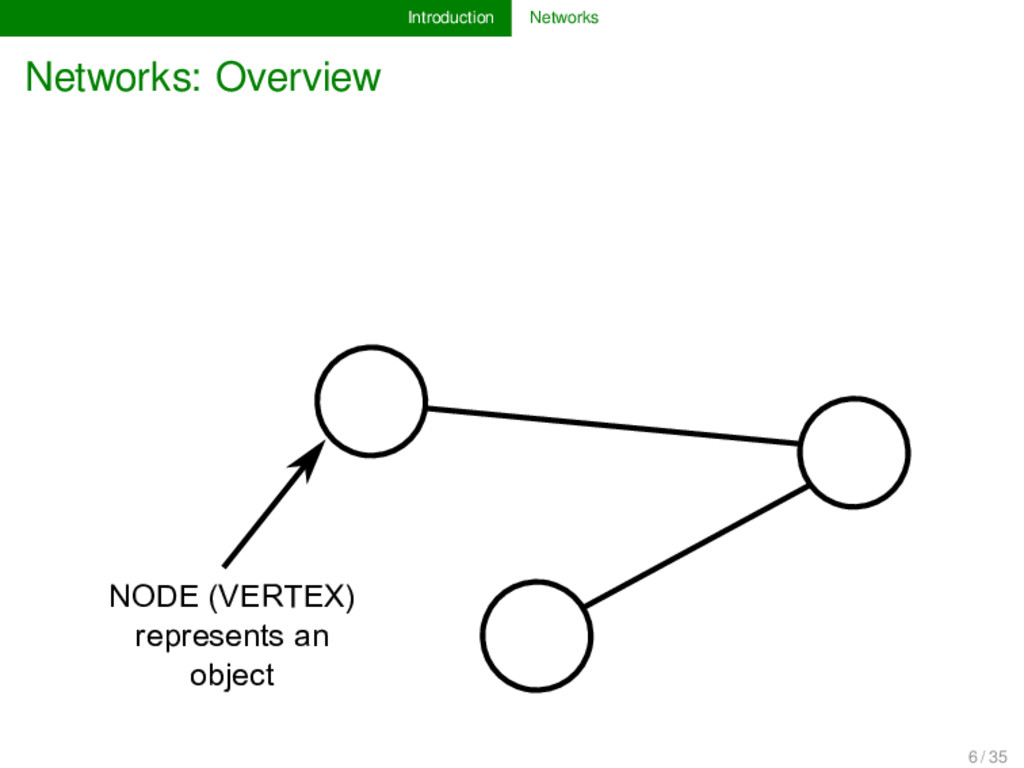 Introduction Networks Networks: Overview NODE (...