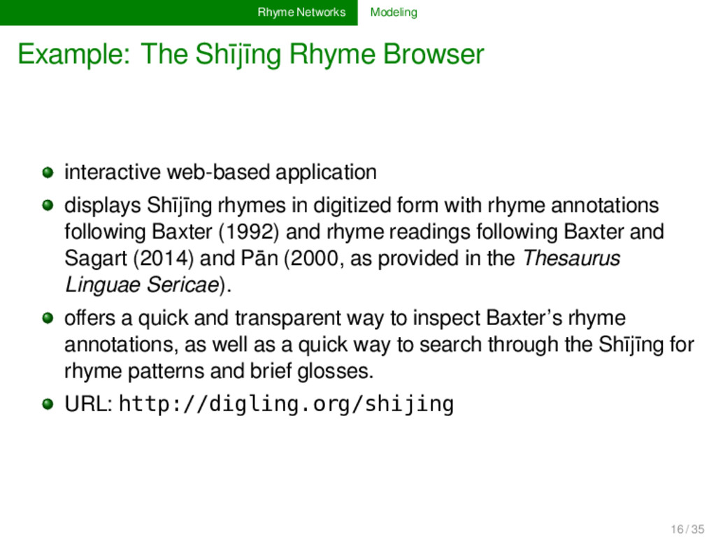 Rhyme Networks Modeling Example: The Shījīng Rh...