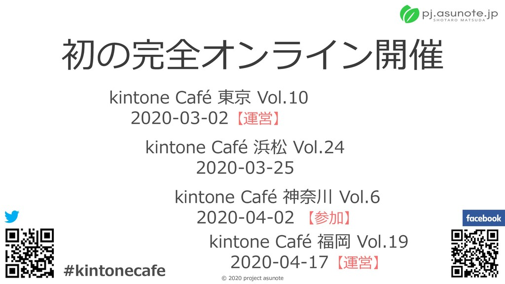 9 © 2020 project asunote #kintonecafe 初の完全オンライン...