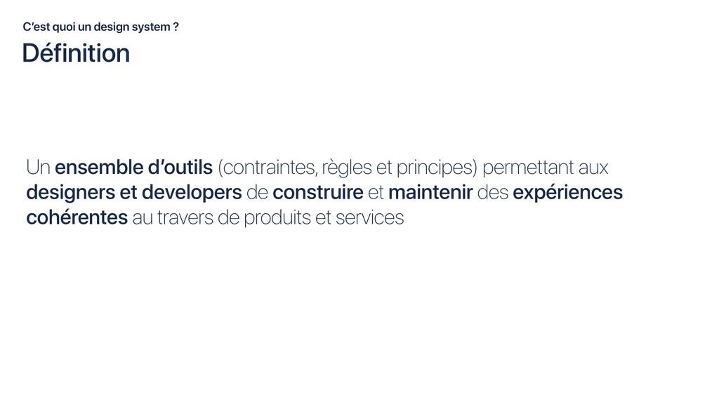 Un ensemble d'outils (contraintes, règles et pr...