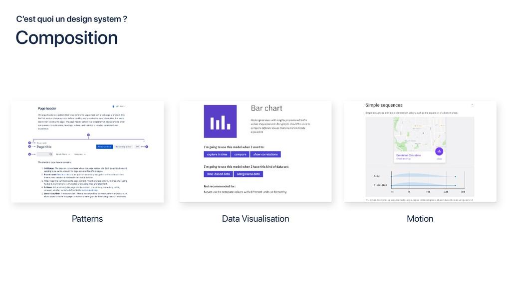 C'est quoi un design system ? Patterns Data Vis...