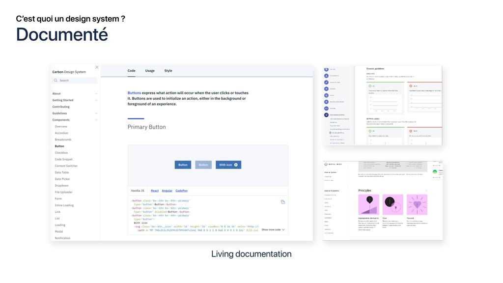 C'est quoi un design system ? Living documentat...