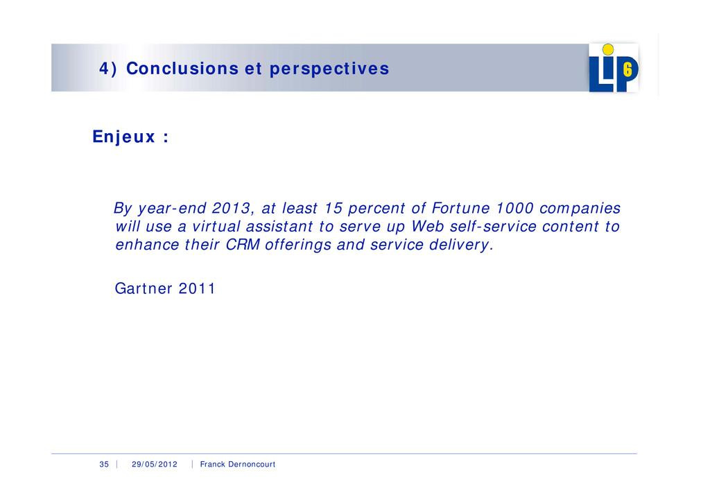 29/05/2012 Franck Dernoncourt 35 4) Conclusions...