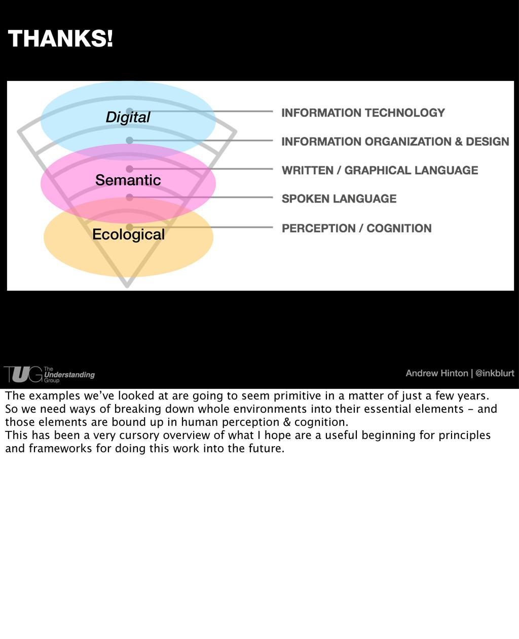 Andrew Hinton | @inkblurt THANKS! Digital Ecolo...