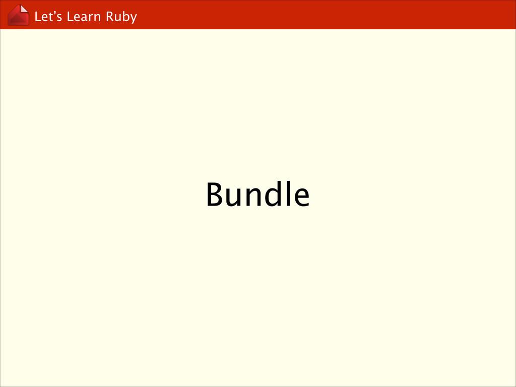 Let's Learn Ruby Bundle