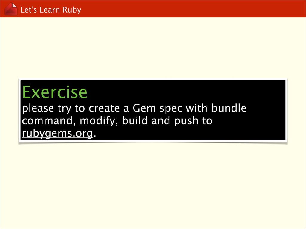 Let's Learn Ruby Exercise