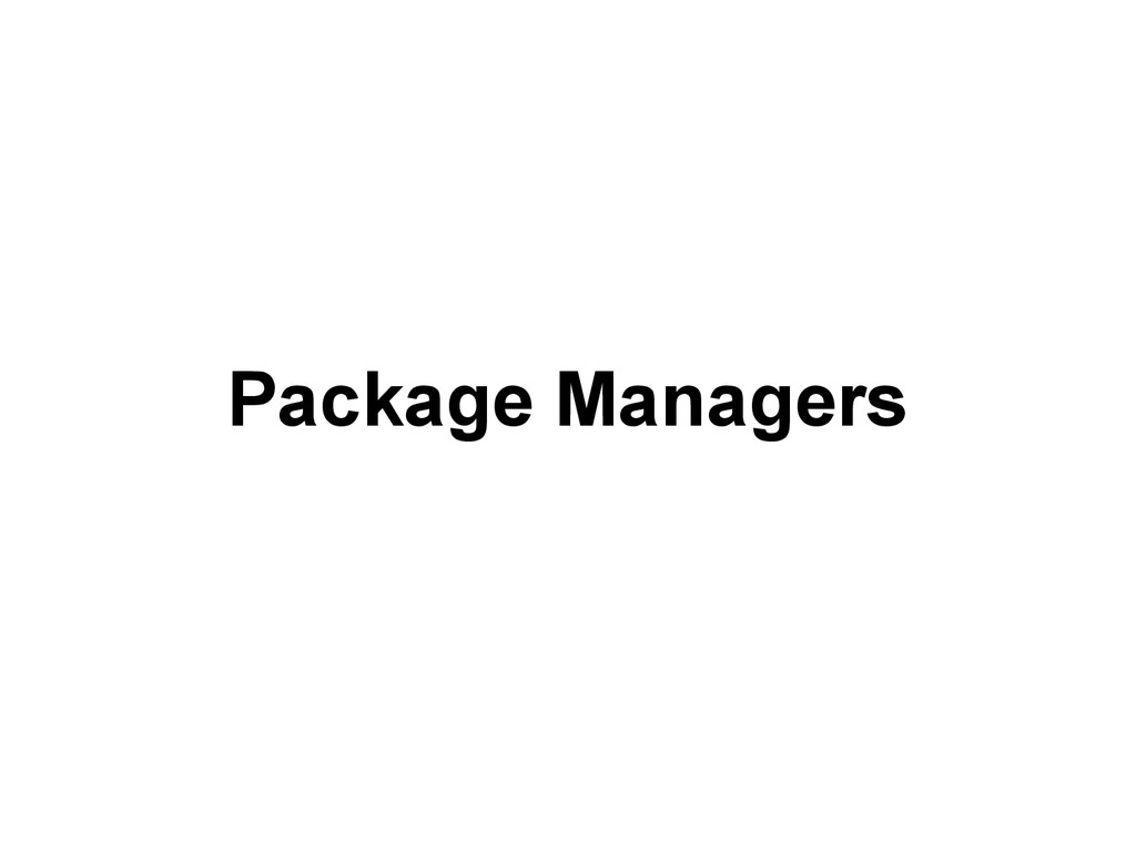 Package Managers