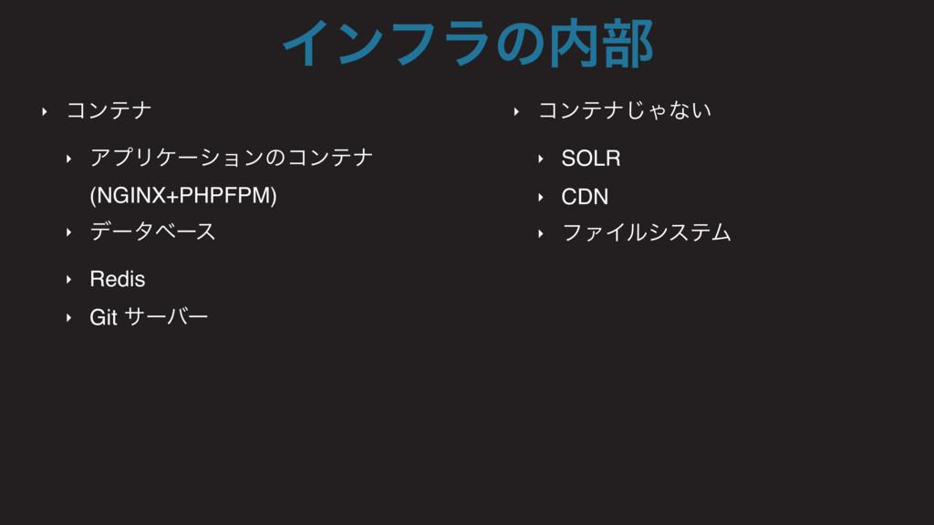 ‣ ίϯςφ ‣ ΞϓϦέʔγϣϯͷίϯςφ (NGINX+PHPFPM) ‣ σʔλϕʔε ...