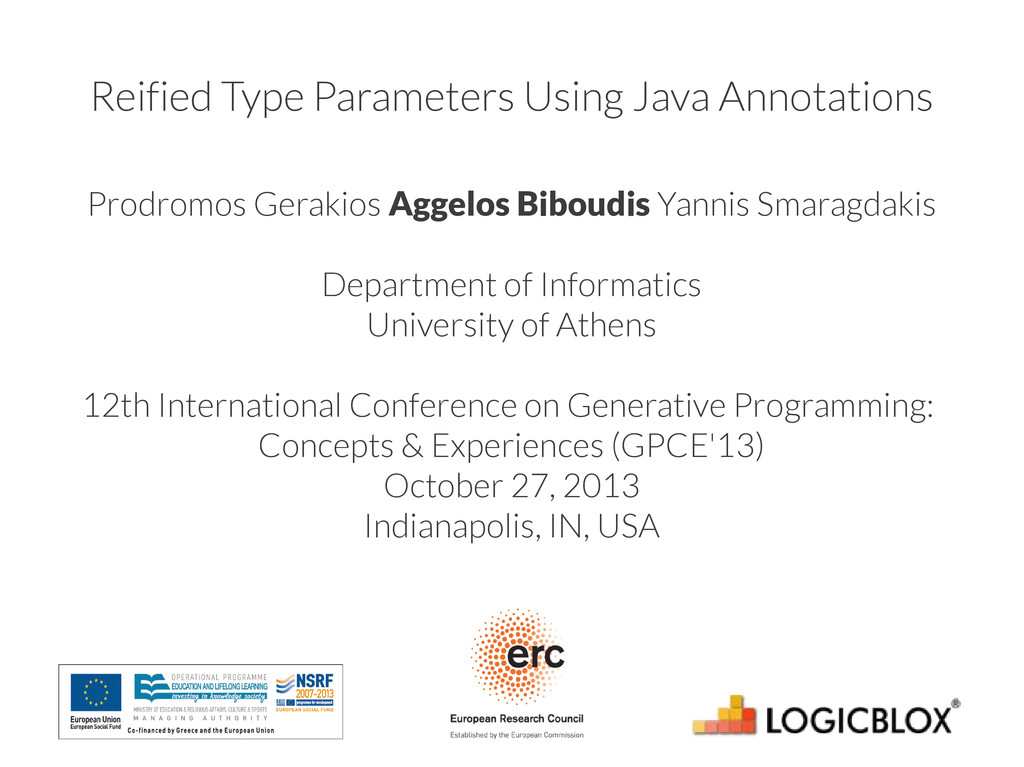 Reified Type Parameters Using Java Annotations ...