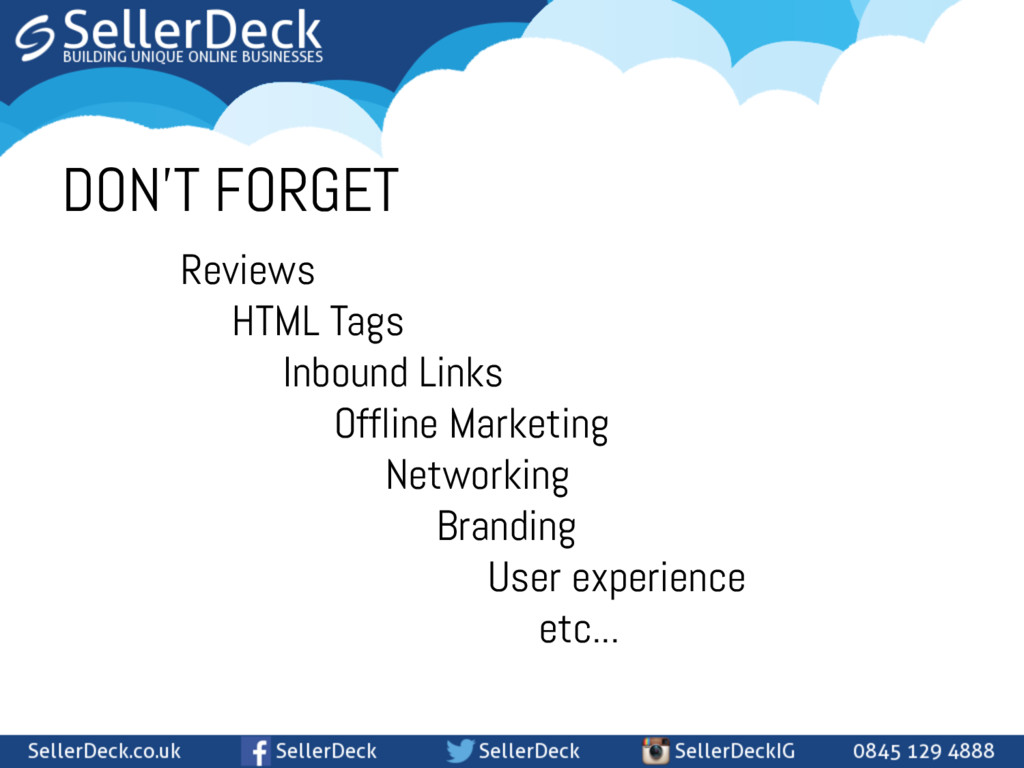 DON'T FORGET Reviews HTML Tags Inbound Links Of...