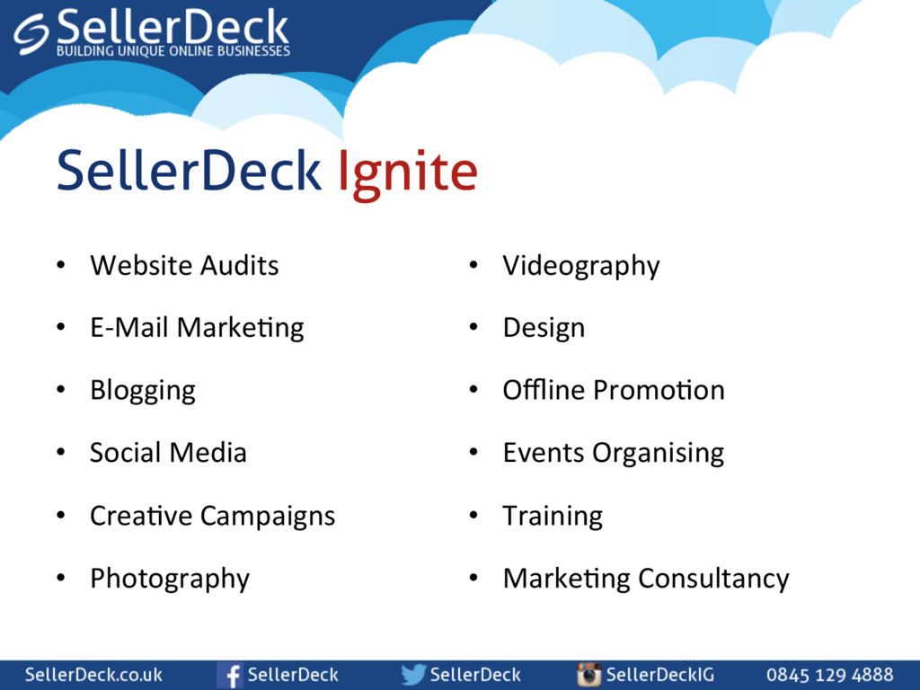 • Website Audits  • E-‐Mail Marke\n...