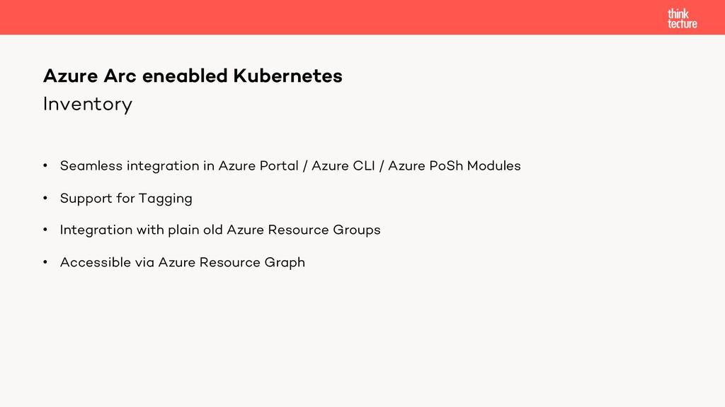 Inventory • Seamless integration in Azure Porta...