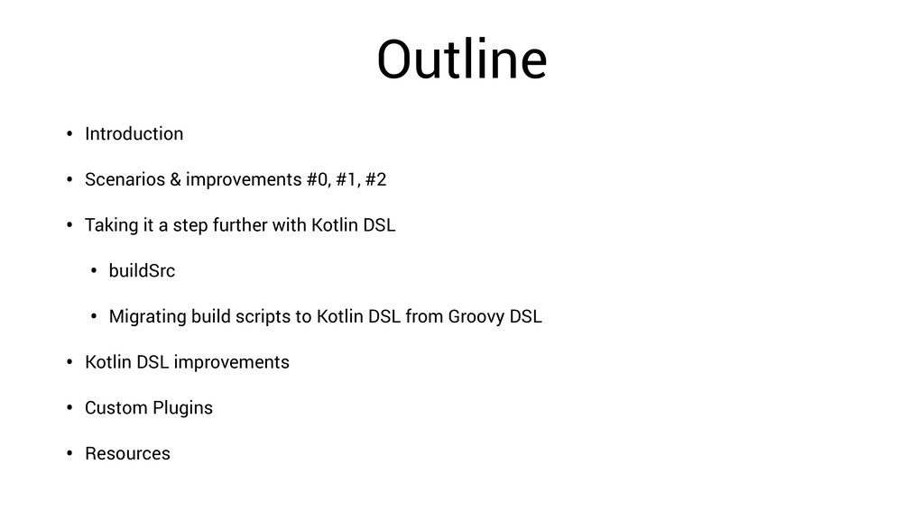 Outline • Introduction • Scenarios & improvemen...