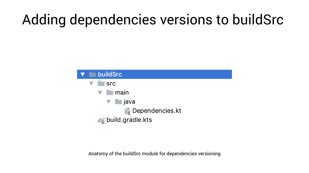 Adding dependencies versions to buildSrc Anatom...