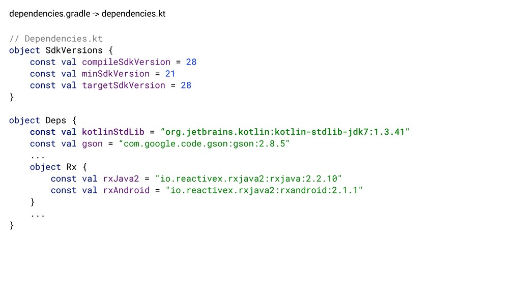 dependencies.gradle -> dependencies.kt // Depen...