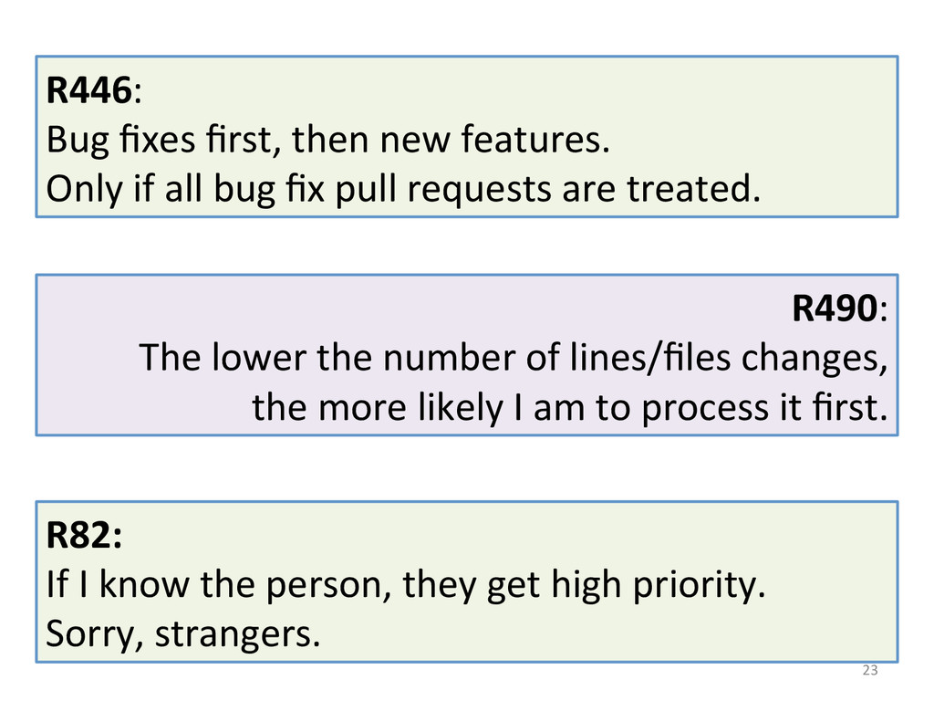 23  R446:  Bug fixes first, then...